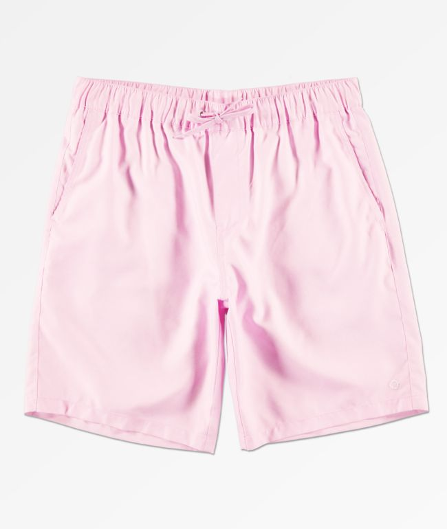 Empyre Grom Pink Elastic Waist Board Shorts