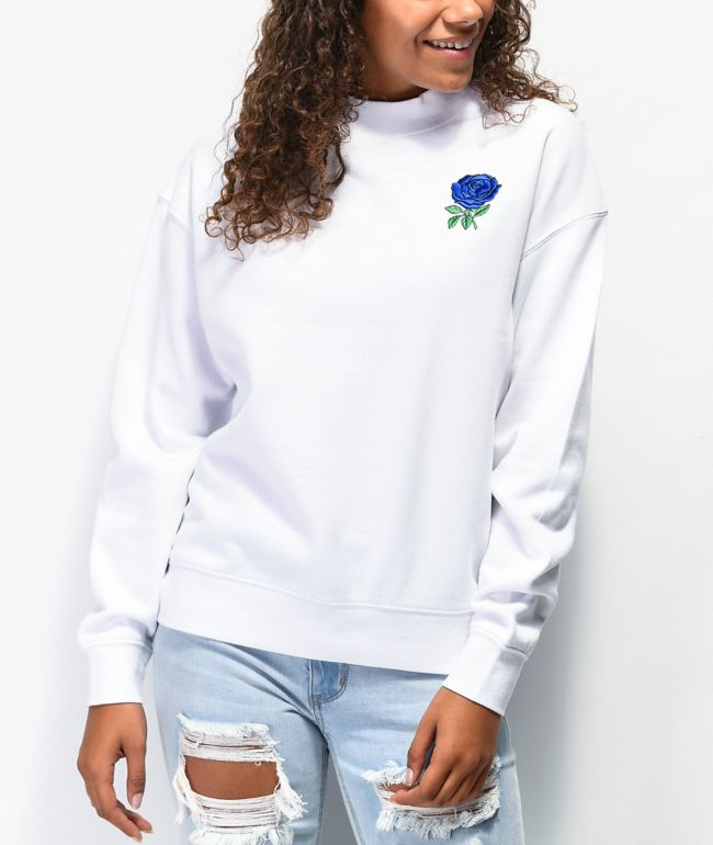 Empyre Holmes Blue & White Crew Neck Sweatshirt