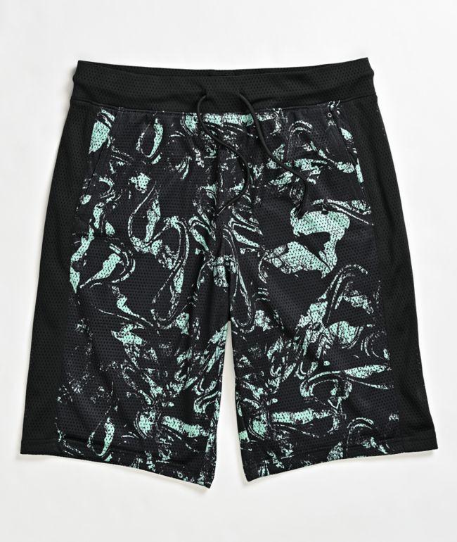 Empyre Juice shorts de baño en negro y menta