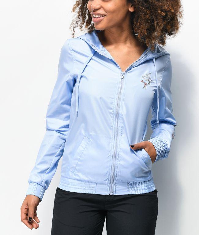 Empyre Keana Flower Blue Windbreaker Jacket