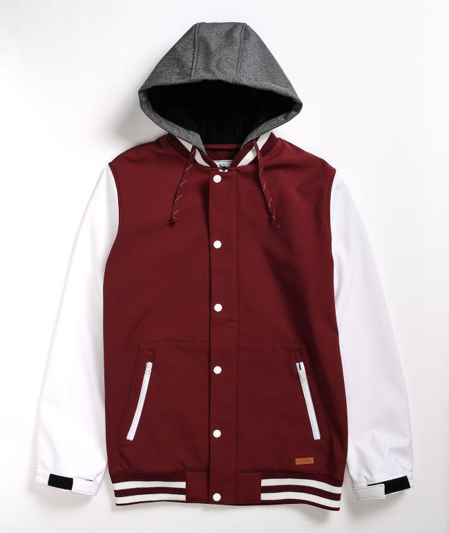 Empyre Lily Express Port & White 10K Snowboard Jacket