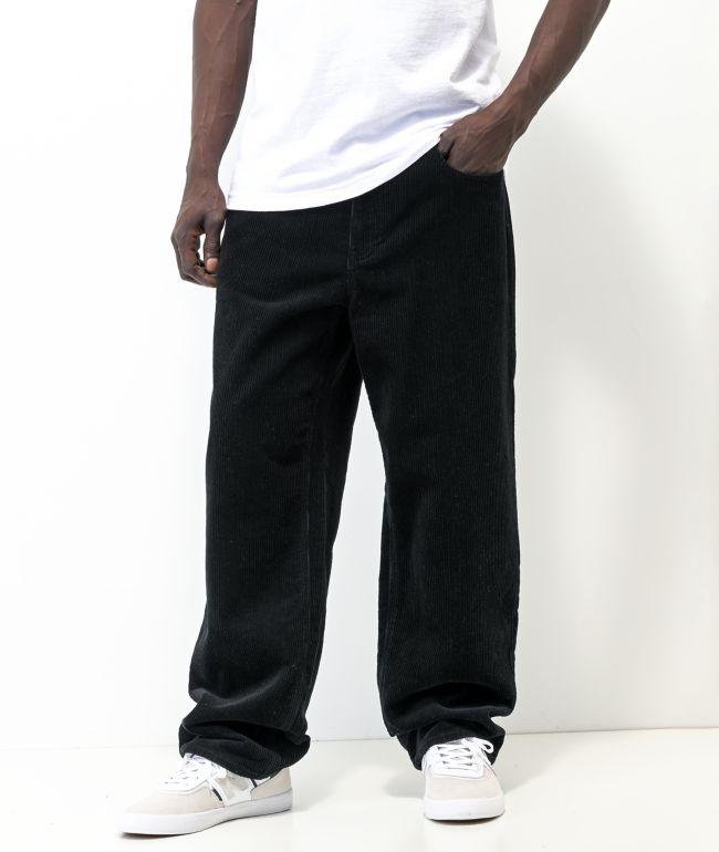 Empyre Loose Fit Black Corduroy Skate Pants
