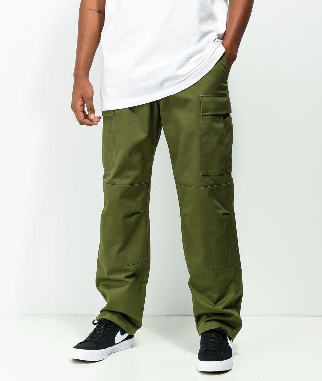 Empyre Loose Fit Olive Cargo Skate Pants