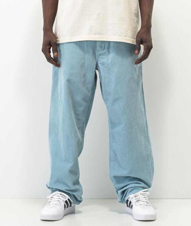 Empyre Loose Fit SK8 Corduroy Light Blue Skate Pants