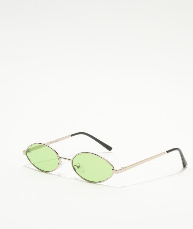 Empyre Miller Slim Round Green Sunglasses