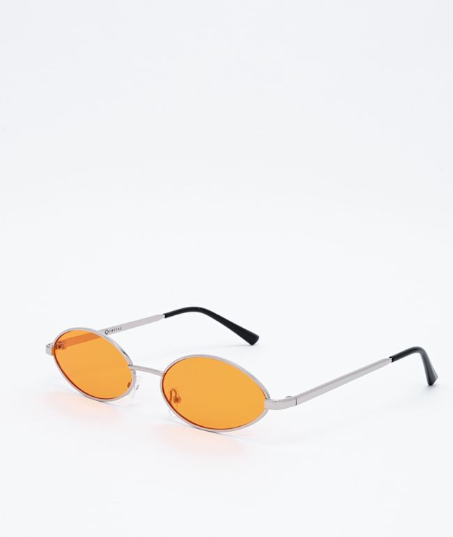 Empyre Miller Slim Round Orange Sunglasses