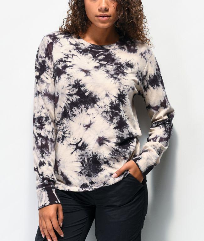 Empyre Monroe Black Tie Dye Long Sleeve T-Shirt