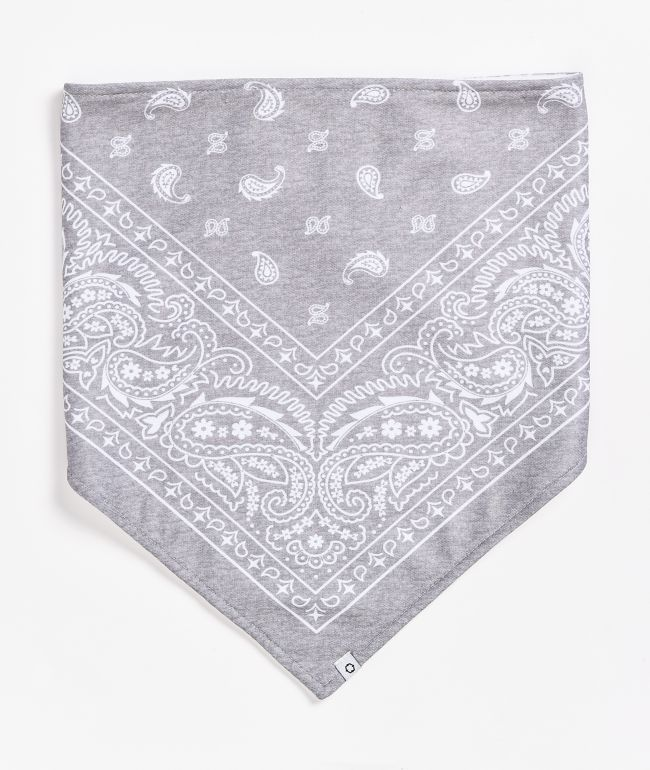 Empyre Paisley Grey Fleece Bandana