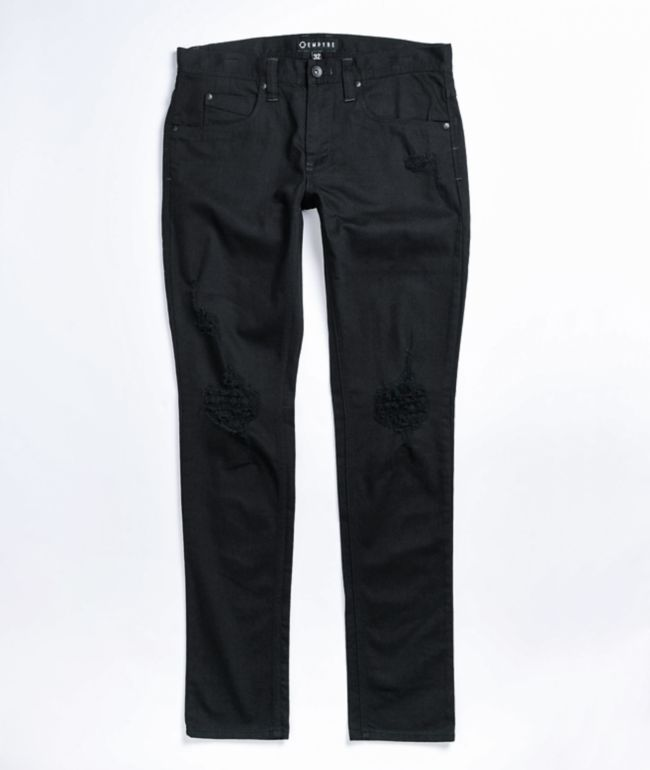 Empyre Recoil Destroy Black Skinny Jeans