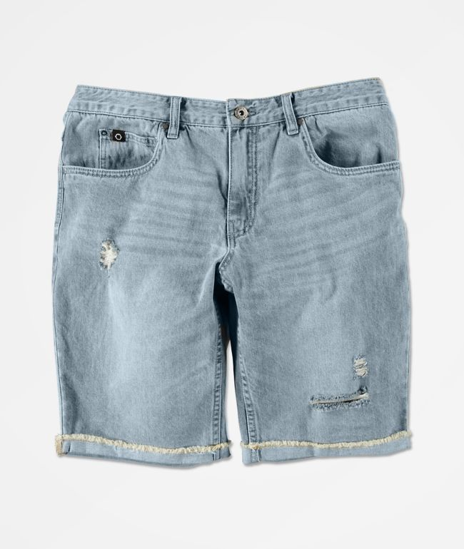 Empyre Richmond Aged Medium Blue Denim Shorts