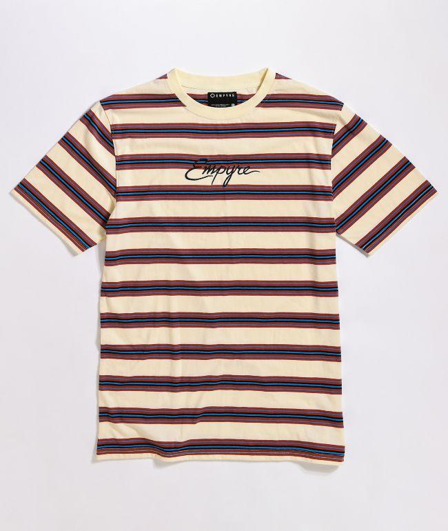 Empyre Script Stripe Cream T-Shirt