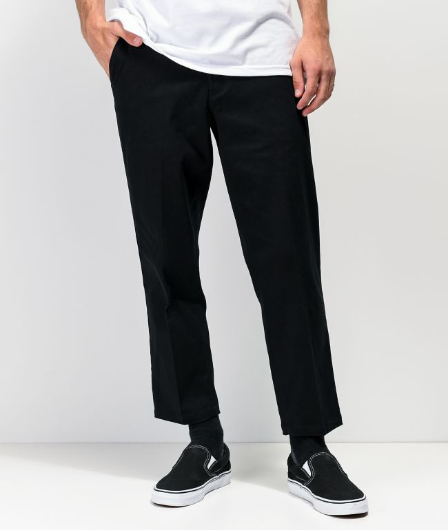 Empyre Seth Black Crop Chino Pants