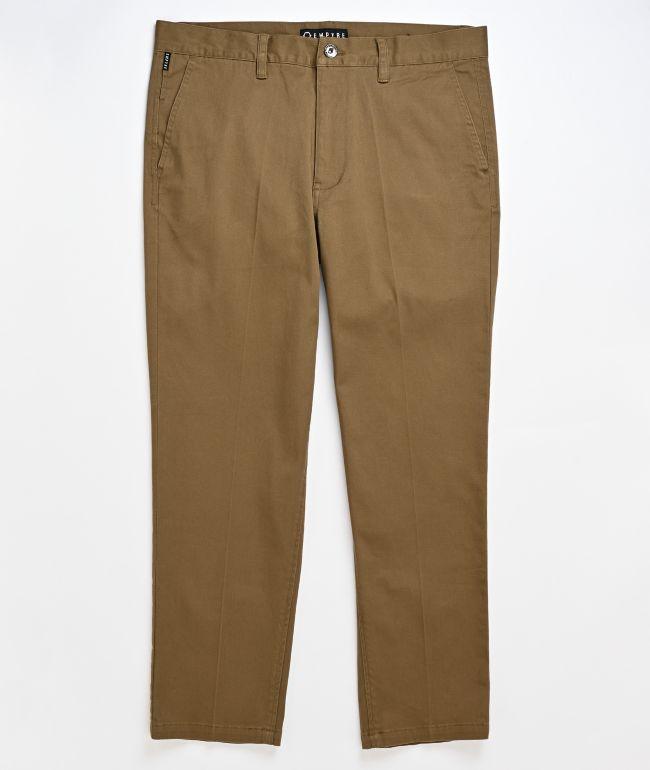 Empyre Seth Dark Khaki Crop Chino Pants