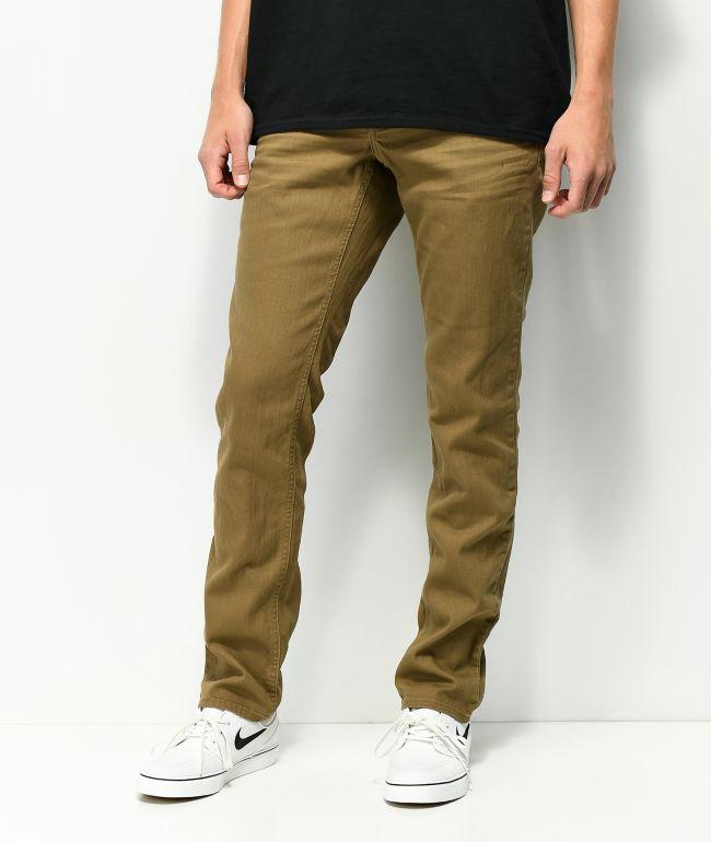 Empyre Skeletor Driftwood jeans ajustados en caqui