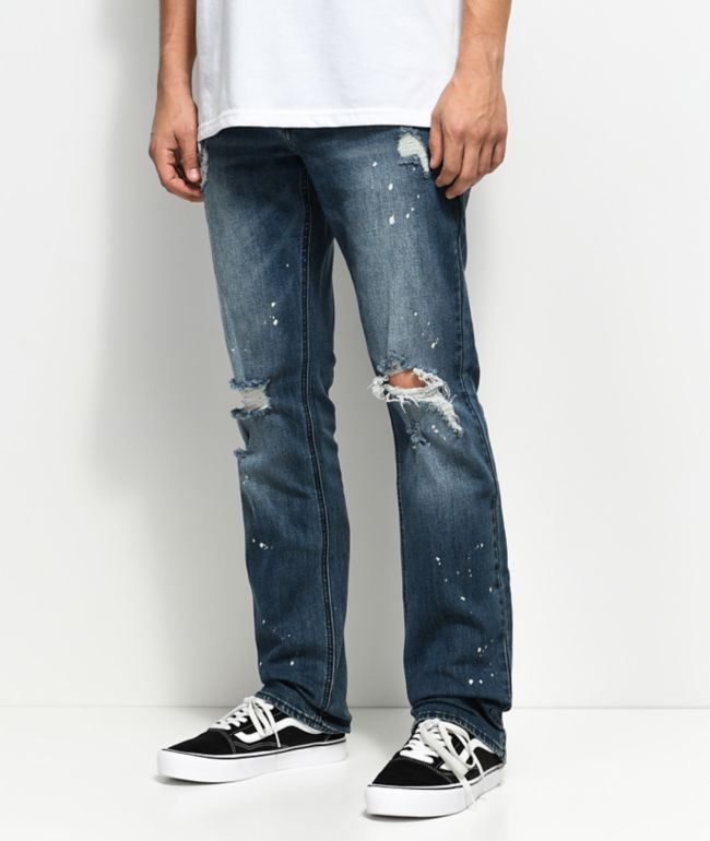 Empyre Skeletor Sawyer Bleached Splattered Jeans