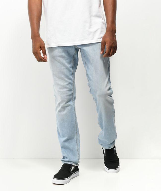 Empyre Skeletor Sprinted Light Blue Denim Skinny Jeans