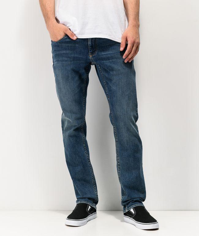 Empyre Skeletor skinny jeans en color índigo