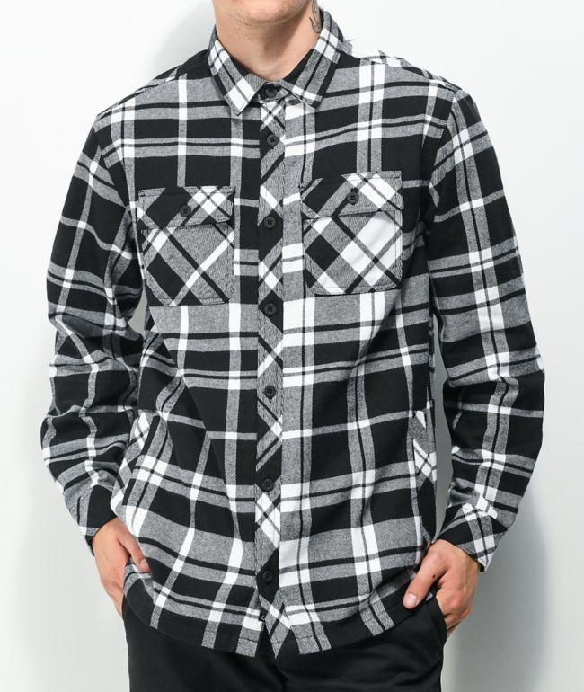 Empyre Slick Black & White Plaid Flannel Shirt