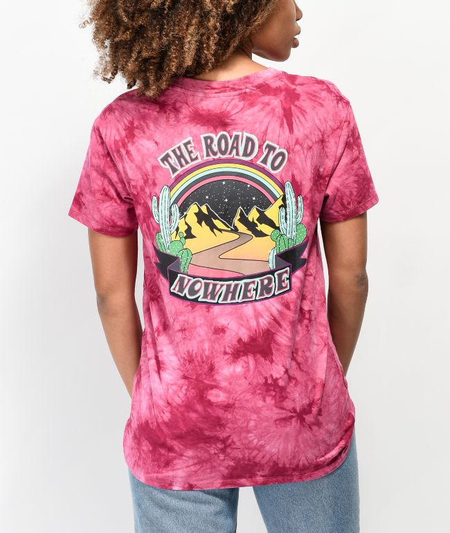 Empyre Sloane Road To Nowhere Burgundy Tie Dye T-Shirt