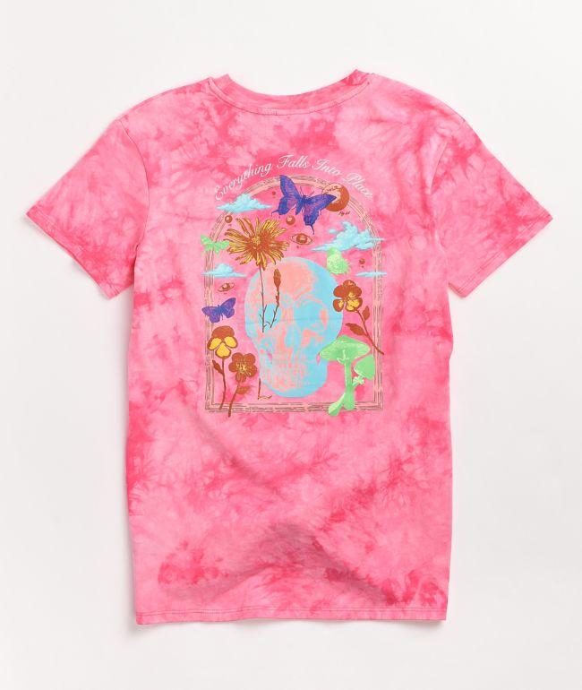 Empyre Sloane Skull Garden Pink Tie Front T-Shirt