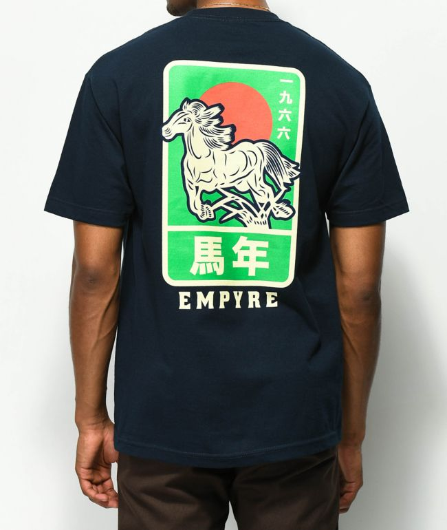 Empyre Stallion camiseta azul marino