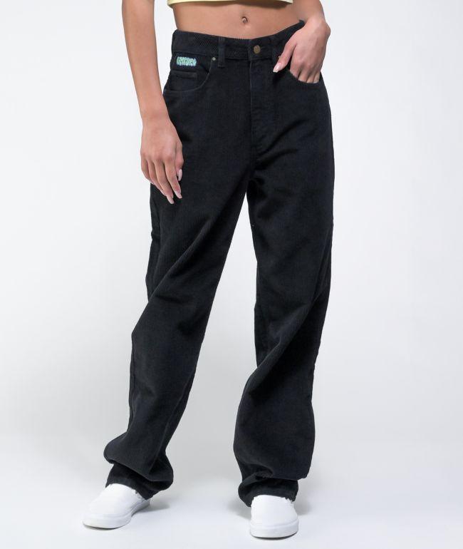 Empyre Tori 90s Black Corduroy Skate Pants