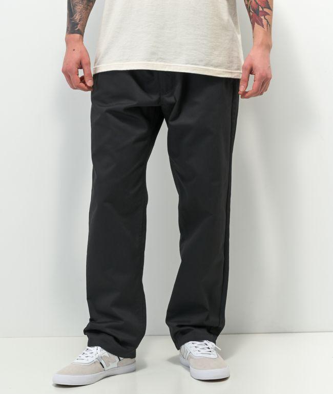 Empyre Tyson Loose Fit Black Elastic Waist Skate Pants