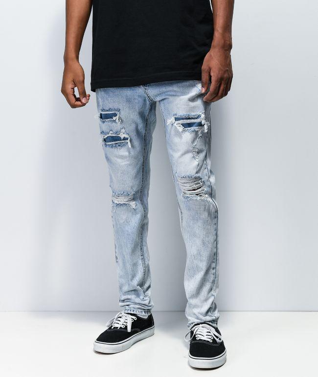 Empyre Verge Kersey jeans ajustados con lavado claro