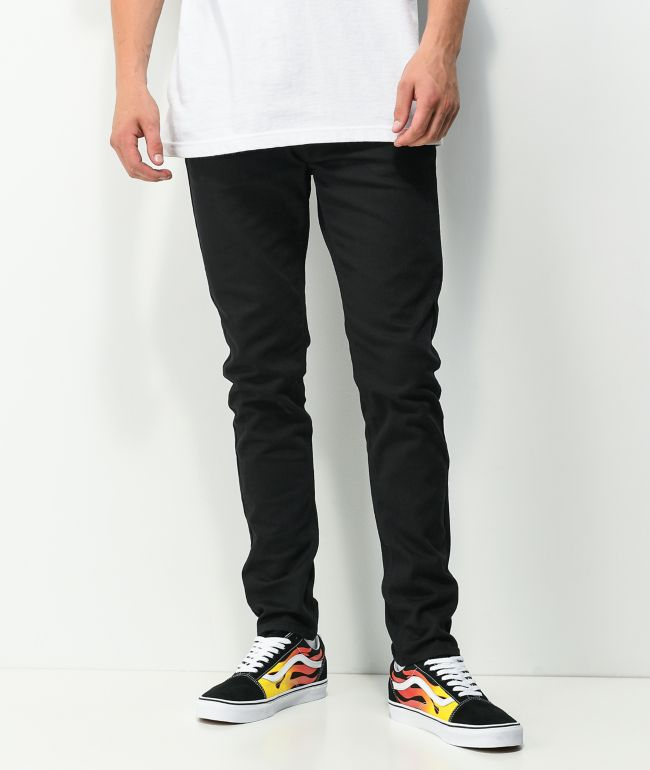Empyre Verge Tapered Black Skinny Jeans