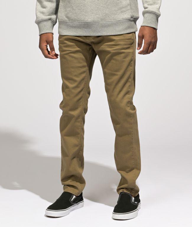 Empyre Verge Tapered Khaki Skinny Jeans
