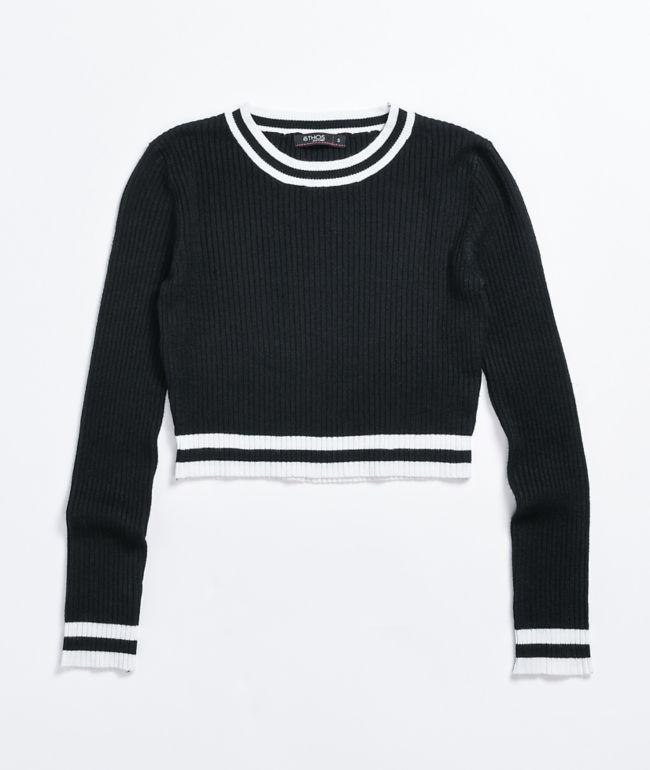 Ethos Black Crop Sweater