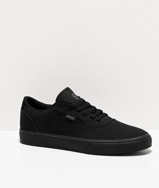 Etnies Blitz All Black Skate Shoes   Zumiez