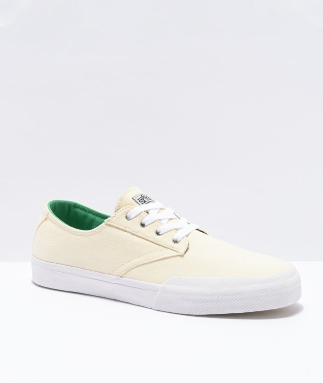 Etnies x Sheep Jameson Vulc White and Green Skate Shoes