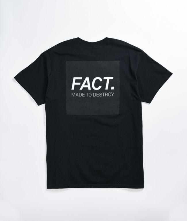 FACT Box Logo Black T-Shirt