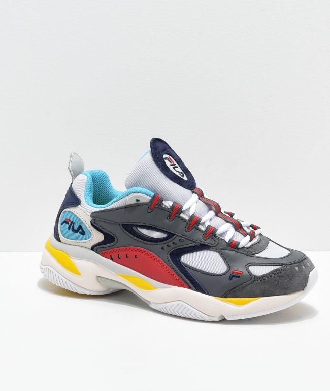 FILA Boveasorus Grey, Blue \u0026 Red Shoes