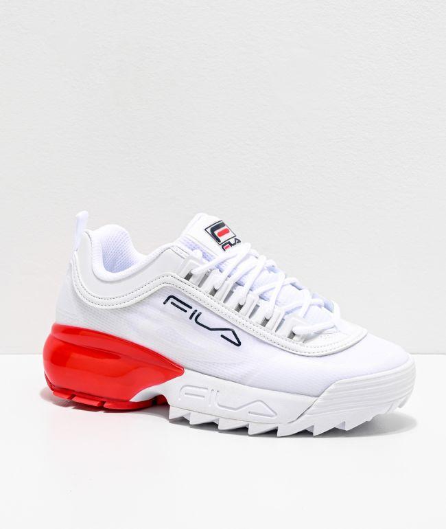 FILA Disruptor 2A White \u0026 Red Shoes