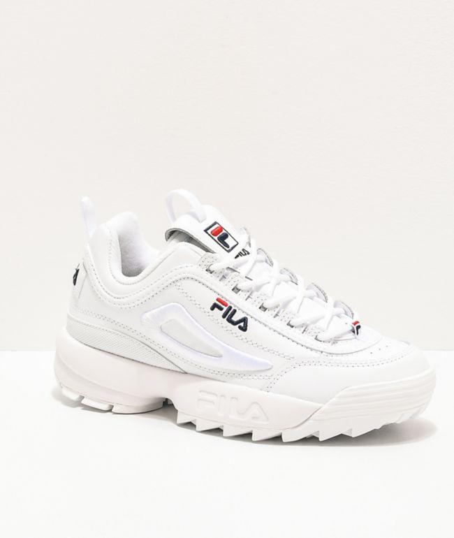 FILA Disruptor II 3D zapatos blancos con bordados