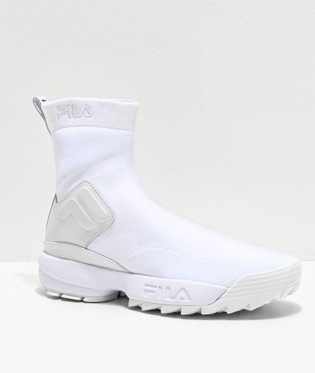 FILA Disruptor Stretch White Shoes | Zumiez