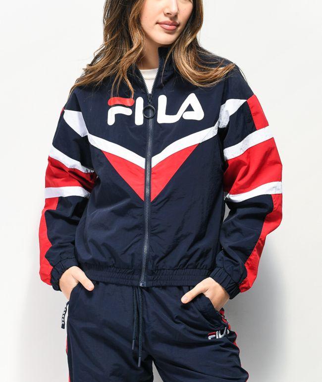 FILA Jolie Navy, White & Red Windbreaker Jacket