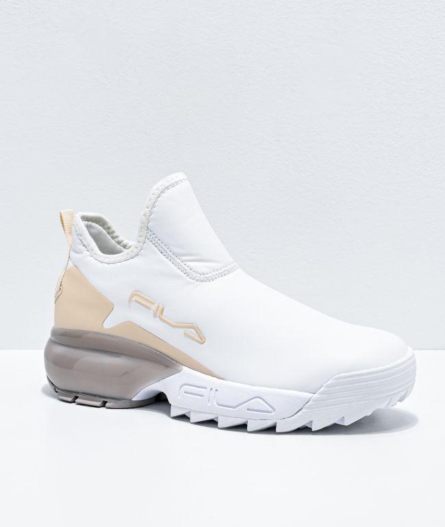 FILA Lab White \u0026 Nude Shoes | Zumiez