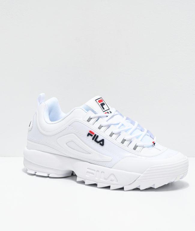 FILA Men's Disruptor II No-Sew White