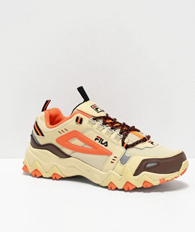 fila sneakers orange