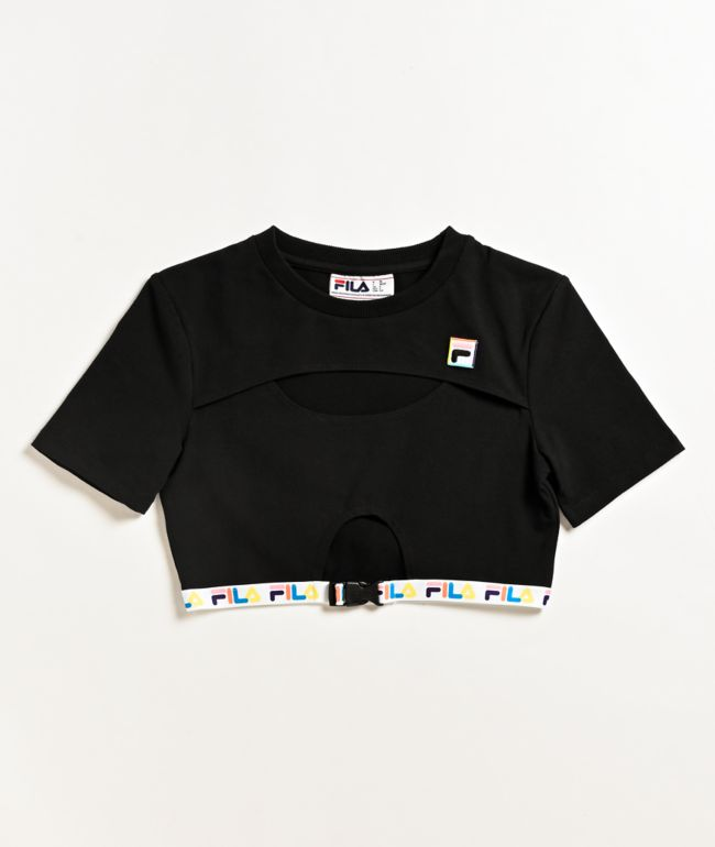 FILA Trish Black Crop T-Shirt