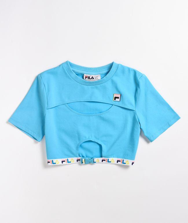 FILA Trish Blue Crop T-Shirt