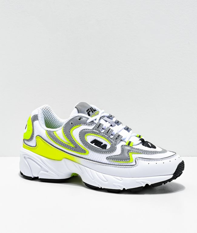 FILA Volante 98 White &  Yellow Shoes