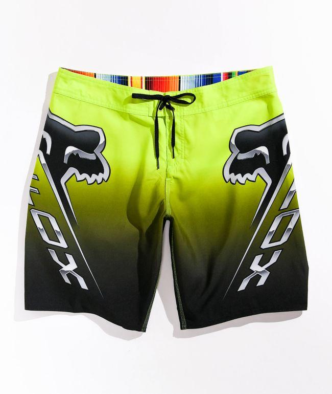 Fox Centro Yellow & Black Board Shorts