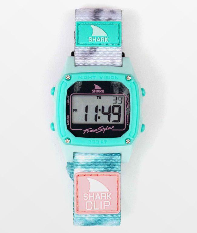 Freestyle Shark Classic Clip Aqua Cloud Digital Watch