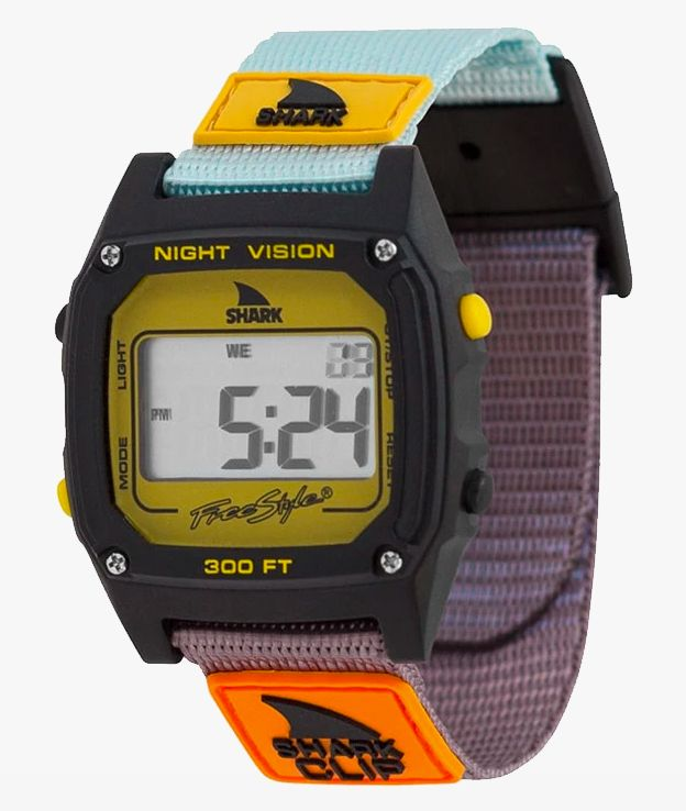 Freestyle Shark Classic Clip Turquoise, Black & Mustard Digital Watch