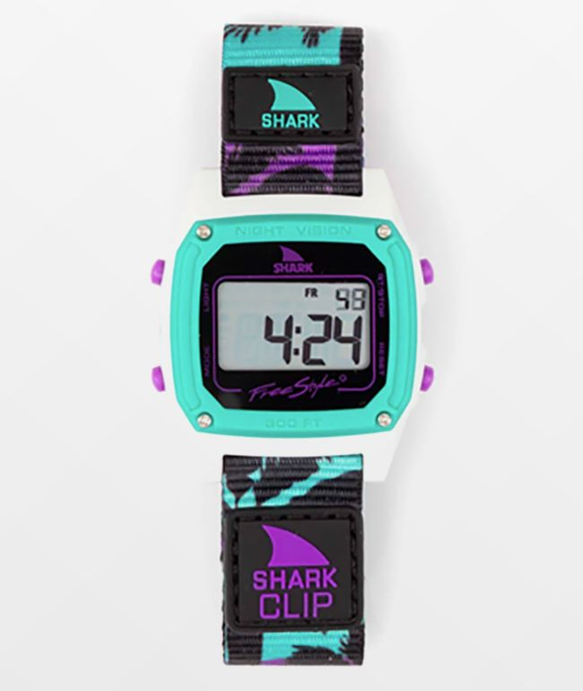 Freestyle x Amber Torrealba Shark Classic Clip Purple Sunset Digital Watch