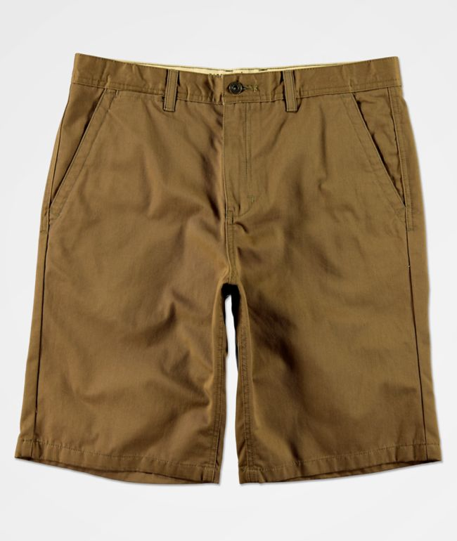 Freeworld Discord Dark Khaki Chino Shorts